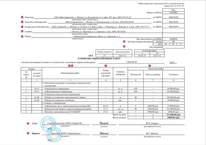 КС 2 и КС 3 образец заполнения — форма по ОКУД 0322005, что это?